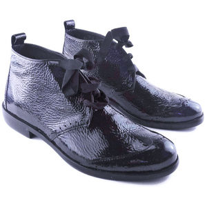 HOMERS Artisan Patent Leather Ankle Boots Size 37